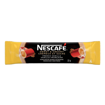 NESCAFE Sweet & Creamy French Vanilla, Instant Coffee Sachets, 18x22g {Canadian}