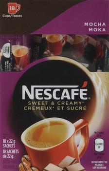 Nescafe Sweet & Creamy Instant Mocha Coffee 18 x 22g from Canada