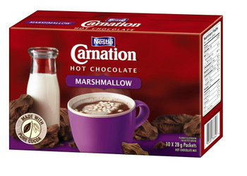 Nestle CARNATION Hot Chocolate Marshmallow (10 x 28g/1oz) {Canadian}