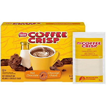 Nestle Coffee Crisp Hot Chocolate  8x25g sachets {Imported from Canada}