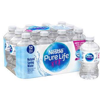 Nestle Pure Life 100% Natural Spring Water 12x330ml {Imported from Canada}