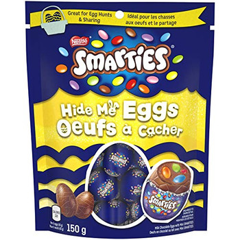 Nestle Smarties Easter Hide Me Chocolate Eggs, 150g/5.3oz.(Imported from Canada)