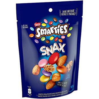 Nestle Smarties Snax, Candy Coated Chocolate Snack Mix, 160g/5.6 oz.{Canadian}