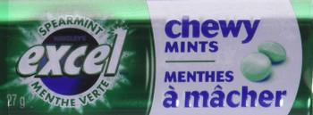 Excel Chewy Mints Spearmint, 27g x 10 Count (Imported from Canada)
