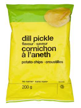 No Name Dill Pickle Potato Chips 200g/7.1 oz., {Imported from Canada}