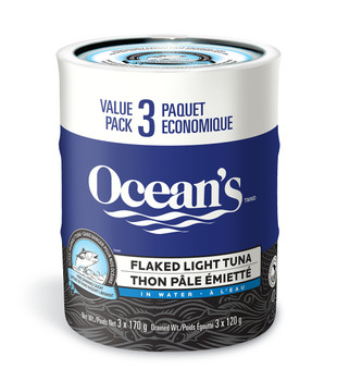 Ocean's Flaked Light Tuna in Water Multipack, 3-Count {Imported from Canada}