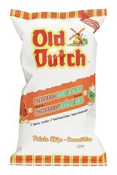 Old Dutch Cheddar & Sour Cream Potato Chips 255g/9 oz., {Imported from Canada}