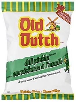 Old Dutch Dill Pickle Chips Single Serve - 40g Bag {Imported from Canada}