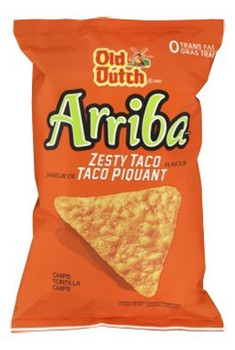 Old Dutch Arriba Zesty Taco Tortilla Chips, 45g/1.6 oz., bag {Imported from Canada}