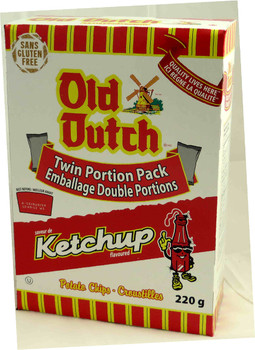 Old Dutch Ketchup Chips - 220g/7.8oz Box, (Imported from Canada)
