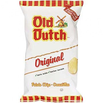 Old Dutch Original Potato Chips, One Large Bag, {Imported from Canada}
