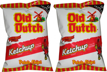Old Dutch Potato Chips, Ketchup, 40g/1.4oz - 40 Pack{Imported from Canada}