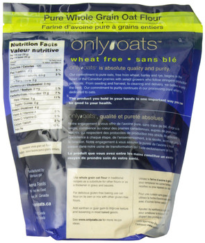 Only Oats Pure Whole Grain Oat Flour, 1Kg/2.2 lbs. {Imported from Canada}