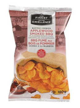 Our Finest Kettle Applewood  BBQ Chips 180g/6.34oz {Imported from Canada}