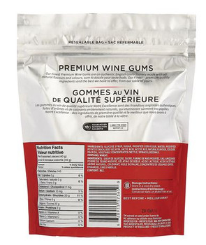 Our Finest Premium Wine Gums 400g bag, (Imported from Canada)