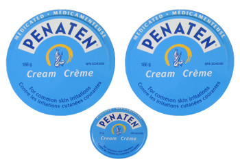Penaten Cream 2 tins 166g/5.85oz + 1 tin 27g/0.95 oz. {Imported from Canada}
