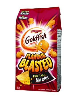 Pepperidge Farm, Goldfish, Flavour Blasted Baked Nacho Crackers, 180g/6.3oz (Imported from Canada)