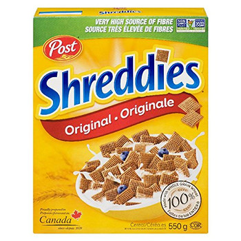 Post Shreddies Breakfast Cereal 550g/19.4 oz., {Imported from Canada}