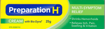 Preparation H Cream With Bio-Dyne, 25g/.88oz - Canadian Formula