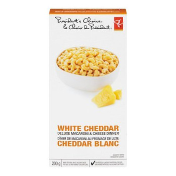 Presidents Choice White Cheddar Deluxe Mac & Cheese Dinner 200g {Canadian}