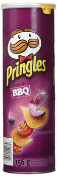 Pringles BBQ Flavor Potato Chips, 156g, (Imported from Canada)