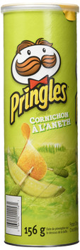 Pringles Dill Pickle Chips, 156 Grams {Imported from Canada}