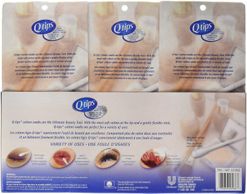 Q-tips Cotton Swabs, 625 ct (3pk) {Imported from Canada}