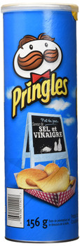 Pringles Salt and Vinegar Chips, 156g/5.50oz (Imported from Canada)