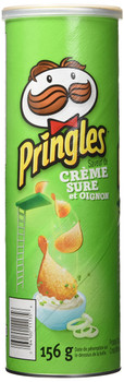 Pringles Sour Cream & Onion Potato Chips 156g/5.5 oz., (Imported from Canada)