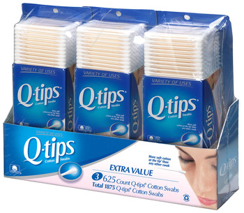 Q-tips Cotton Swabs, Club Pack 625 ct, (3pk) {Imported from Canada}