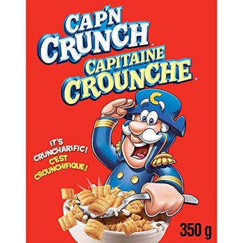 Quaker CAP'N CRUNCH Cereal 350g/12.34 oz., {Imported from Canada}