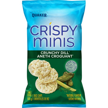 Quaker Crispy Minis Crunchy Dill (Pack of 12) {Imported from Canada}
