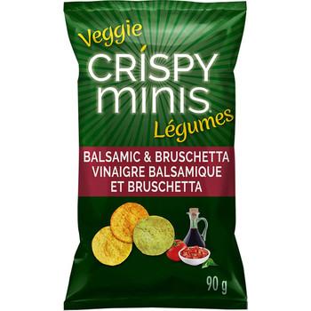 Quaker Crispy Minis Veggie Balsamic & Bruschetta Multigrain Chips, 90g/3.2 oz. (Imported from Canada)