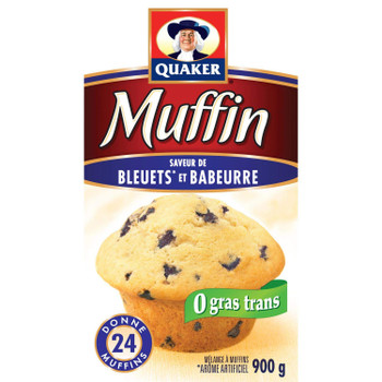 Quaker Muffin Mix Blueberry 900g makes 24 muffins {Imported from Canada}