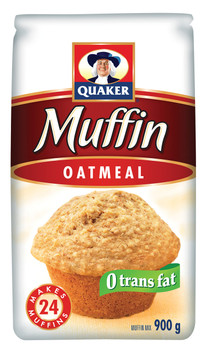 Quaker Muffin Mix Oatmeal 900g/31.7 oz., Makes 24 muffins - {Imported from Canada}