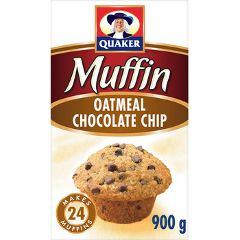 Quaker Muffin Mix Oatmeal Chocolate Chip, 900g/31.7 oz. {Imported from Canada}