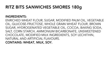 Ritz Bits Sandwiches Smores 180g/6.34oz {Imported from Canada}