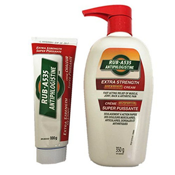 Rub A535 Extra Strength Cream, 350g Bottle Plus 100g Tube Value Pack , {Imported from Canada}