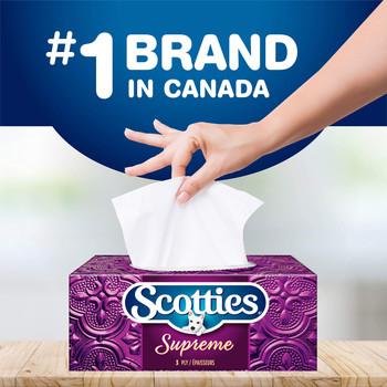 Scotties Supreme Facial Tissue, 3-ply, 88 sheets per box -6pk {Canadian}