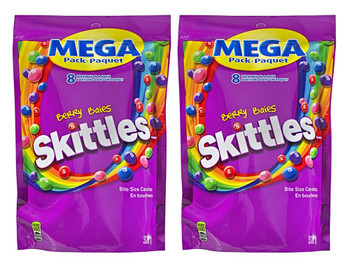 Skittles Berry, Mega-Pack, 320g, Purple (2 Pack) - {Imported from Canada}