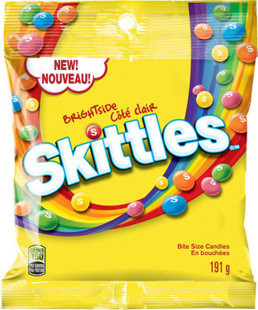 Skittles Brightside Candy, 191g/6.7oz, Bag, {Imported from Canada}