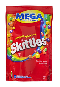 Skittles Original, Mega-Pack, 320gm/11.28oz {Imported from Canada}
