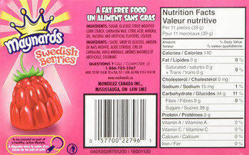 Maynard's Swedish Berries (100g / 3.5oz) (6pk)  {Imported from Canada}