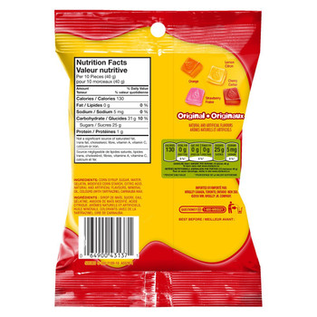 Starburst Gummies Original Candy 164g/5.8oz, (Imported from Canada)