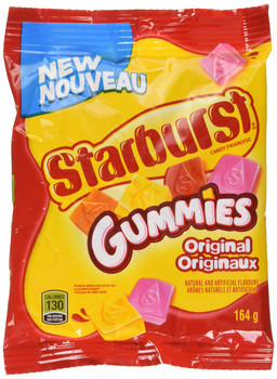 Starburst Gummies Original Candy, 164g/5.8oz, (Imported from Canada)