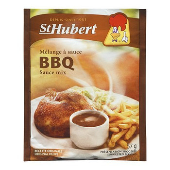 St Hubert BBQ Sauce Mix, 57g/2 oz., 3 packs {Imported from Canada}