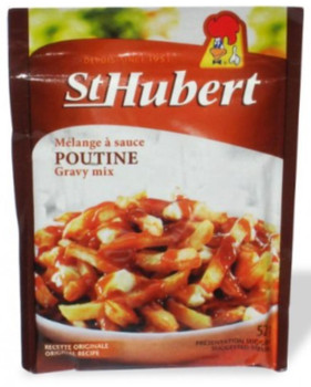 St Hubert Poutine Gravy Mix, 52g/1.8 oz., (3pk)  {Imported from Canada}