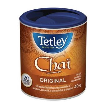 Tetley Chai Tea 20ct, 40g/1.4oz. (Imported from Canada)