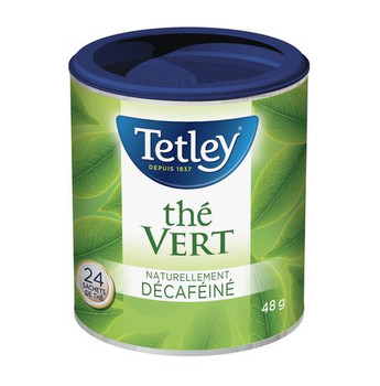 Tetley Naturally Decaffeinated Green Tea 24ct, 48g/1.7oz (Imported from Canada)