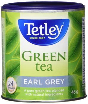 Tetley Tea Earl Grey Green Tea, 24-Count, 48g/1.7oz (Imported from Canada)